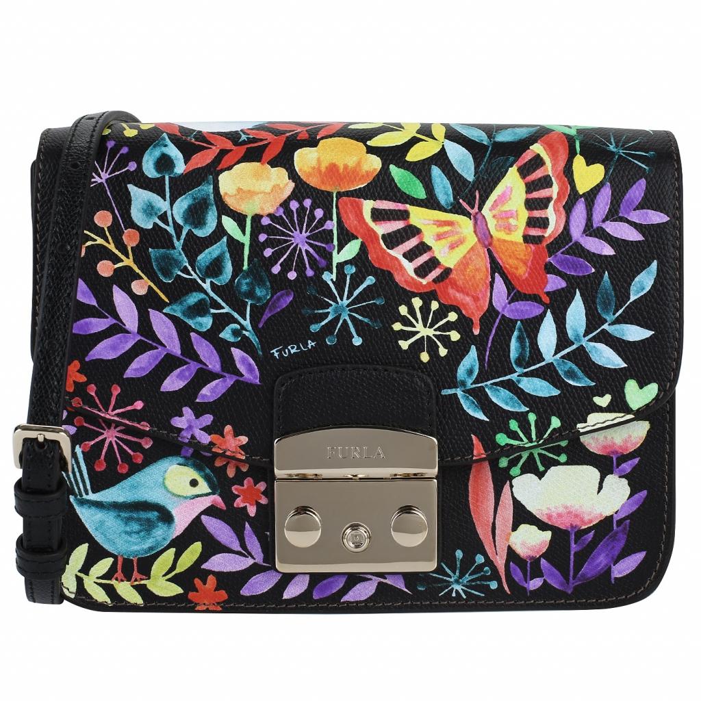 Кожаная сумочка с принтом Furla Metropolis