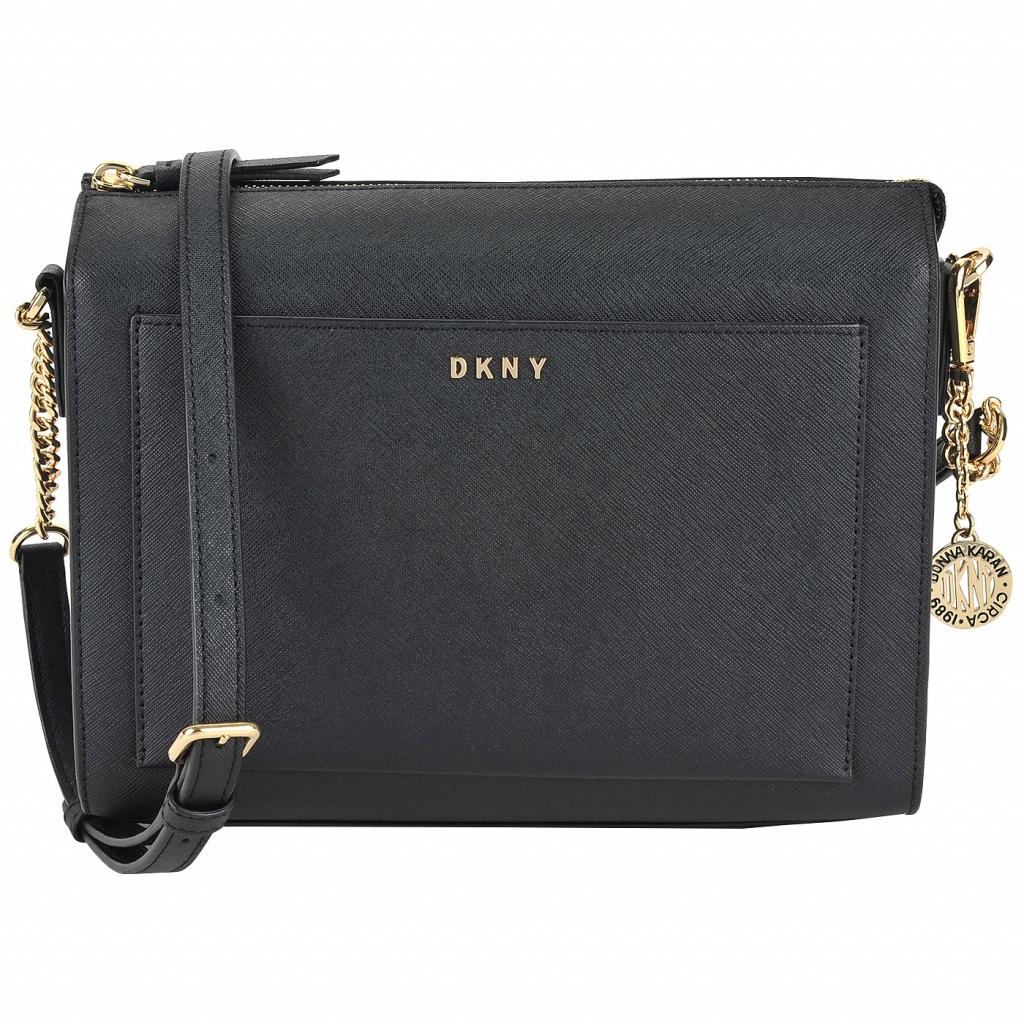 Женская сумка кросс-боди из сафьяновой кожи DKNY Saffiano